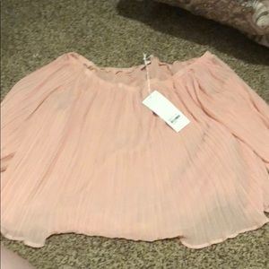 NWT pink off the shoulder blouse lush